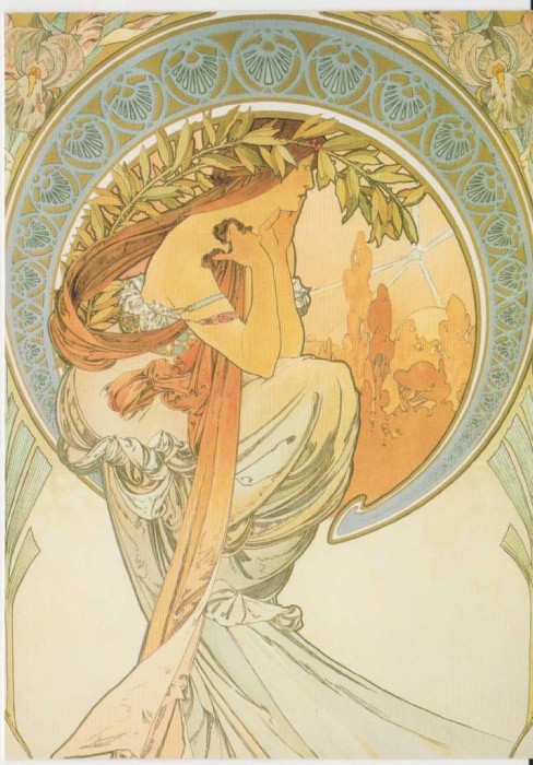 Prague_Postcard_Alphonse_Mucha_Poetry
